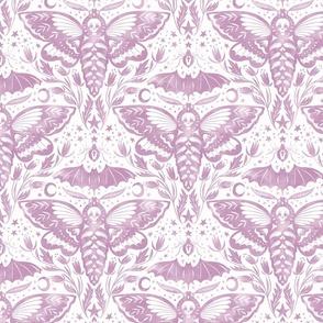 Skull Moth Damask - Lilac