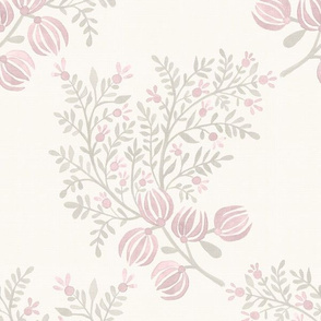 Putty and Blush On Cream EMMA FLORAL TOSS.