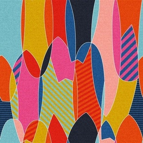 normal scale • Bright Pink Summer Abstract Fun - Colorful surfboards