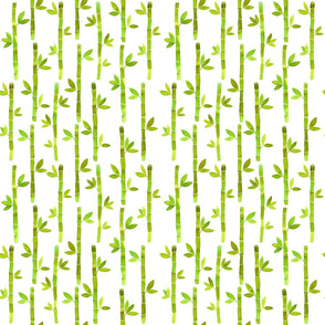 Watercolor Bamboo Pattern_-_Lime_Green