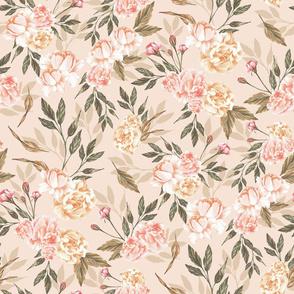 Pastel Peachy Roses (Pink)