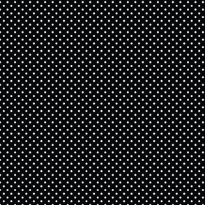 Black With White Polka Dots - Small