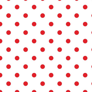 White With Red Polka Dots - Large (Rainbow Collection)