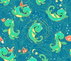 Baby Nessy | Blue + Green