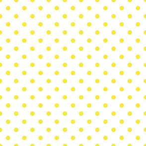 White With Yellow Polka Dots - Medium (Rainbow Collection)