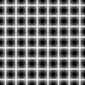 Gradient Plaid Black and White