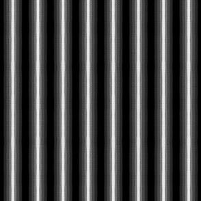 Gradient Vertical Stripe Black and White