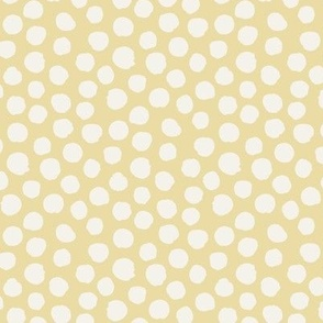 Light yellow with off white spots