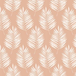 Tropical Summer Leaves Pink