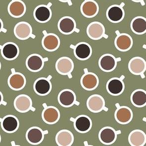 Coffee Mugs - Olive Green