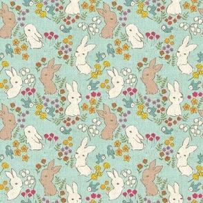Vintage Bunnies {Spring Sky} - mini scale