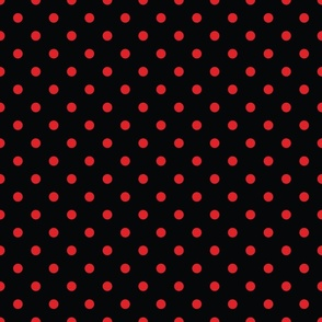Black With Red Polka Dots - Medium (Rainbow Collection)