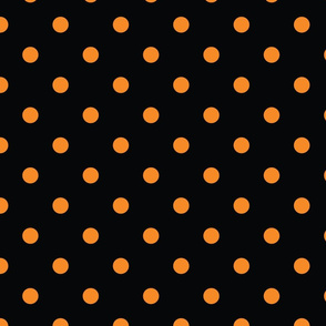 Black With Orange Polka Dots - Large  (Rainbow Collection)