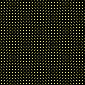 Black With Yellow Polka Dots - Small (Rainbow Collection)