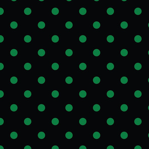 Black With Green Polka Dots - Large (Rainbow Collection)