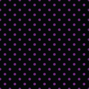 Black With Purple Polka Dots - Medium (Rainbow Collection)