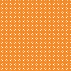 Orange With White Polka Dots - Small (Rainbow Collection)