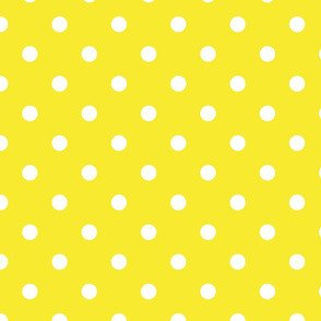 Yellow With White Polka Dots - Large (Rainbow Collection)