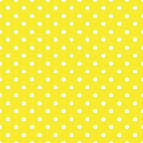 Yellow With White Polka Dots - Medium (Rainbow Collection)