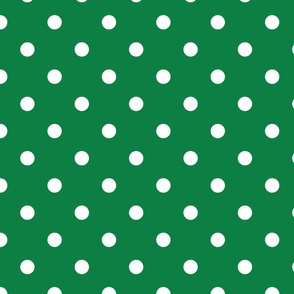 Green With White Polka Dots - Large (Rainbow Collection)
