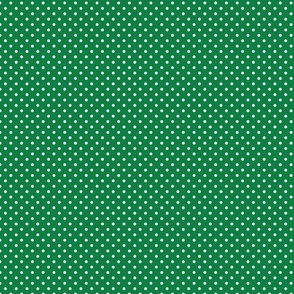 Green With White Polka Dots - Small (Rainbow Collection)