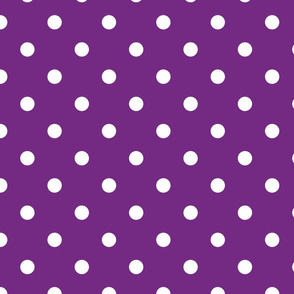 Purple With White Polka Dots - Large (Rainbow Collection)