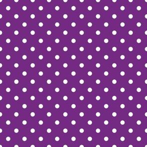 Purple With White Polka Dots - Medium (Rainbow Collection)