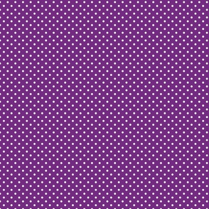 Purple With White Polka Dots - Small (Rainbow Collection)