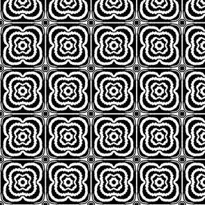 Monochrome 60s floral