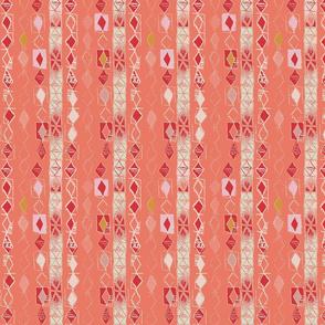 Boho Tribal Stripe Red-Sarah Nussbaumer