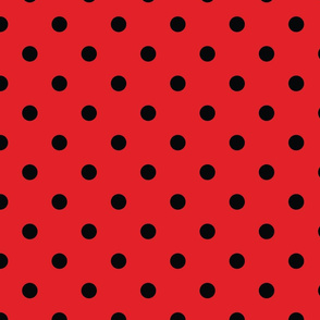 Red With Black Polka Dots - Large (Rainbow Collection)