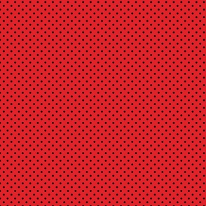 Red With Black Polka Dots - Small (Rainbow Collection)