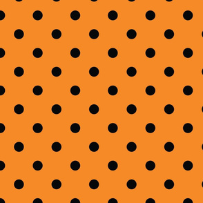 Orange With Black Polka Dots - Large (Rainbow Collection)