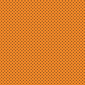 Orange With Black Polka Dots - Small (Rainbow Collection)