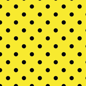 Yellow With Black Polka Dots - Large (Rainbow Collection)