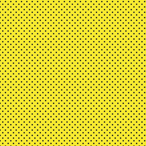Yellow With Black Polka Dots - Small (Rainbow Collection)