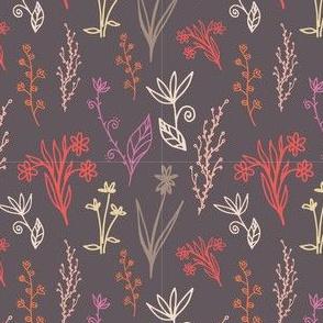 Linear meadow of flowers