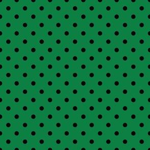 Green With Black Polka Dots - Medium (Rainbow Collection)