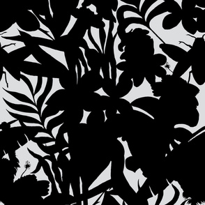 Ze Jungle Shadows Black and White