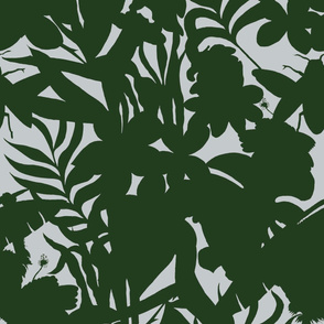 Ze Jungle Shadows Green and White