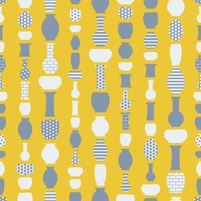 Pots and Vases (Gray&Yellow)