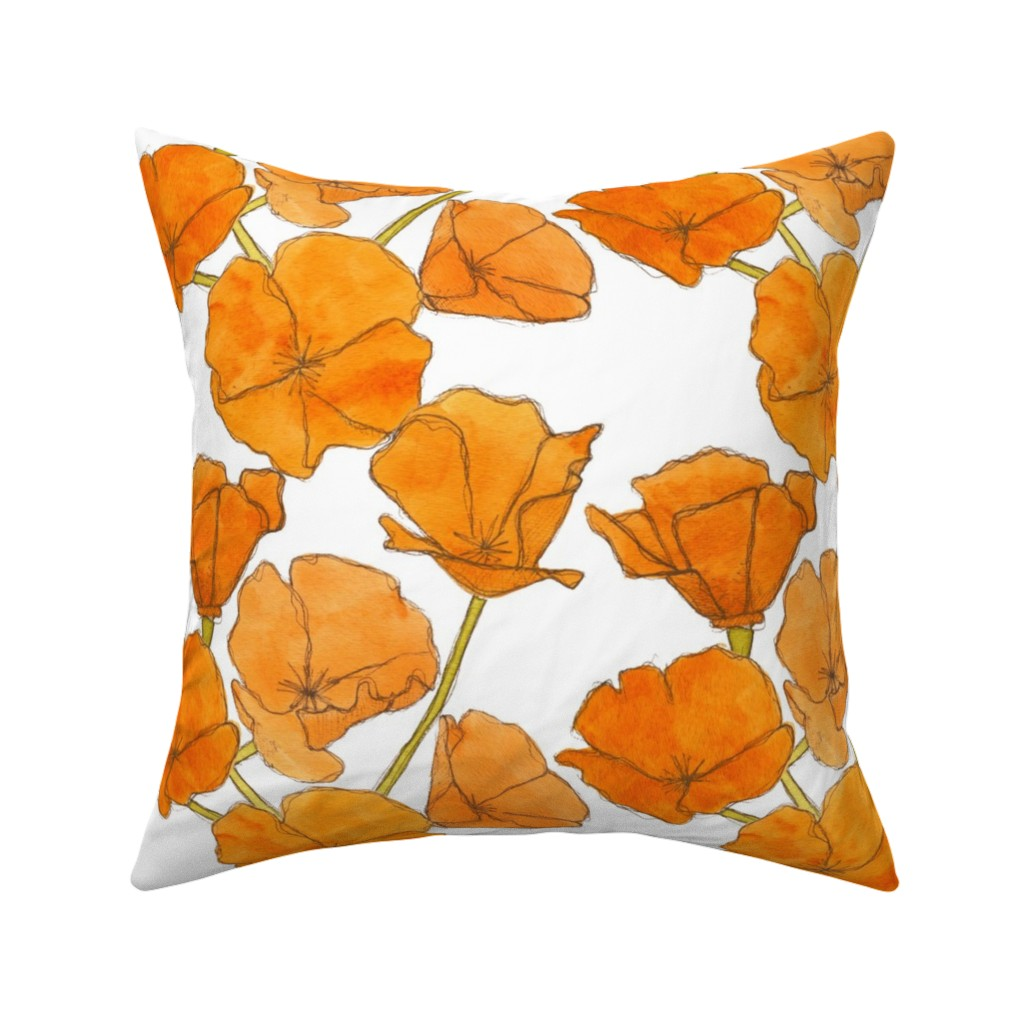Catalan Throw Pillow featuring Poppy_pattern by studiodena
