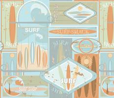 Sun-bleached, Surfboard, Surf Shack Signs