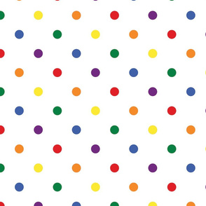Rainbow Polka Dots - Large (Rainbow Collection)