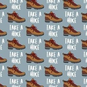 (small scale) hiking - hiking boot - take a hike - dusty blue C21