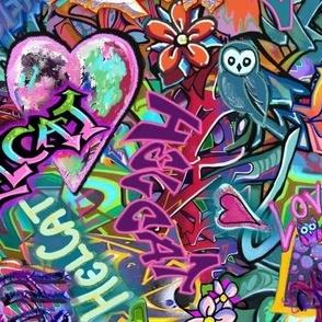 Graffiti paint at the Skate Park Large Scale