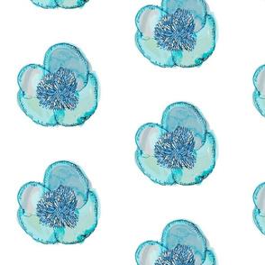 Blue Floating Peony