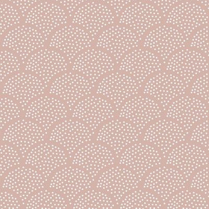 Tiny little speckled scales spots in abstract waves water shape dots texture neutral nursery mauve rose pink white