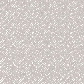 Tiny little speckled scales spots in abstract waves water shape dots texture neutral nursery soft gray white