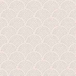 Tiny little speckled scales spots in abstract waves water shape dots texture neutral nursery ivory blush soft gray